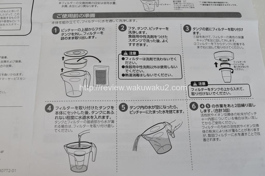 ゼロスイ ショップジャパン TDSデジタルメーター 内容 不純物ゼロ 使用前 準備