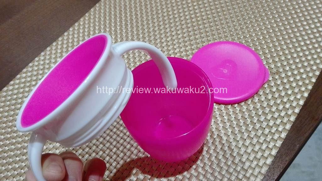 ミラクルカップ こぼれない 育児 食器 レビュー2